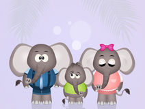 Cute elephants Royalty Free Stock Images