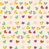 Cute Elephants Pattern Royalty Free Stock Images