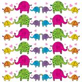 Cute elephants pattern. Decorative  wallpaper, good for printing. Overlapping background vector. Design illustration Royalty Free Stock Images
