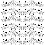 Cute elephants pattern. Decorative  wallpaper, good for printing. Overlapping background . Design illustration Stock Photos