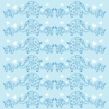 Cute elephants pattern. Decorative  wallpaper, good for printing. Overlapping background vector. Design illustration Stock Images