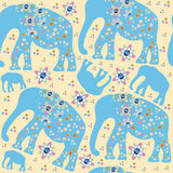 Cute elephants seamless pattern  Royalty Free Stock Images