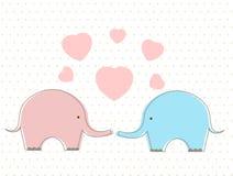 Free Cute Elephants With Heart Royalty Free Stock Photos - 86353968
