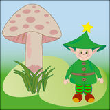 Cute elf vector illustration Royalty Free Stock Image