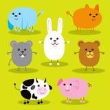 Cute Ellipse Animals Royalty Free Stock Image