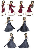 Elven Princess. A cute elven princess striking poses Stock Photography