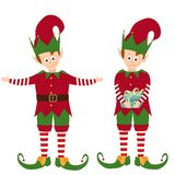 Cute elves collection royalty free illustration