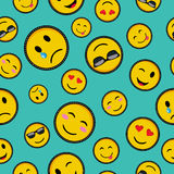 Cute emoji designs Seamless pattern Stock Photo
