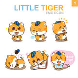 Cute Emoticon Design - Cat Set. Cute cat characters & emotions design Stock Photography