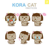 Cute Emoticon Design - Cat Set. Cute Emoticon Design Cat Set with Illustrator Royalty Free Stock Photo