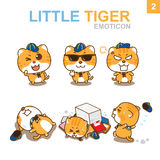 Cute Emoticon Design - Cat Set. Cute Emoticon Design Cat Set with Illustrator Stock Image