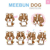 Cute Emoticon Design - Dog Set Stock Images