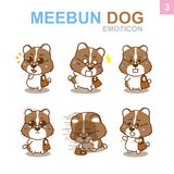 Cute Emoticon Design - Dog Set. Cute Emoticon Design Dog Set with Illustrator Stock Photography