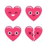 Cute emoticon hearts Royalty Free Stock Photography