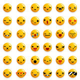 Cute Emoticon Smile Emoji Icons Set Isolated 3d Realistic Design Vector Illustration. Cute Emoticon Smile Emoji Icons Set Isolated Realistic Design Vector Royalty Free Stock Photos