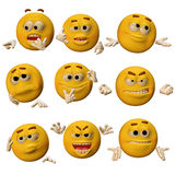 Cute emoticons. 3D render of cute emoticons Royalty Free Stock Images