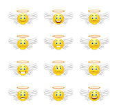 Cute emoticons angels Stock Photo