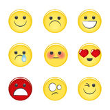 Cute emoticons. Vector  elements Stock Photos