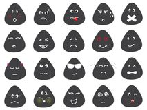 Cute Emotion Icons Vector Set Stock Photo