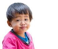 Cute emotional little girl joyful smiling Royalty Free Stock Images