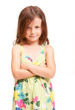 Cute emotional young girl. Stock Photos