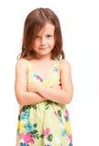 Cute emotional young girl. Stock Photos