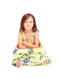 Cute emotional young girl. Stock Images