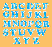 Cute English alphabet set with circle pattern Stock Image