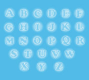 Cute English alphabet set in glowing bubble Stock Image
