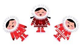 Cute eskimo children group Stock Photography