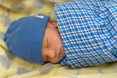 Eurasian newborn baby sleeping Royalty Free Stock Image