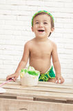Cute expression of adorable toddler Stock Image