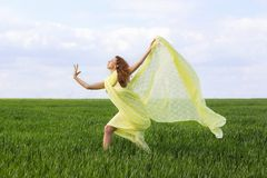 Cute expressive young woman Royalty Free Stock Photos