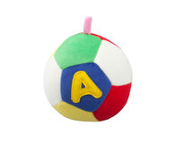Cute fabric ball toy Royalty Free Stock Photo