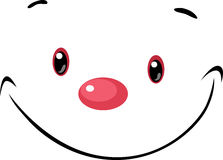 Cute face -  cartoon illustration Royalty Free Stock Photo