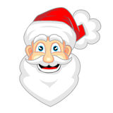 Cute face of happy looking santa claus Stock Photos