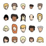 Cute face icons Royalty Free Stock Images