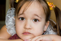Cute face of a little girl Royalty Free Stock Photography