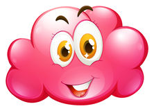 Cute face on pink cloud Royalty Free Stock Photo