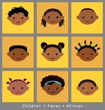 Cute faces of African children Royalty Free Stock Photos