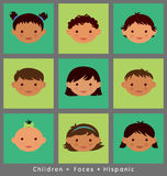 Cute faces of Hispanic children Stock Photos