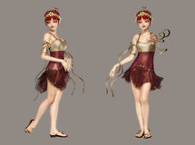 Cute Fairy. Digital cute fairy portrait for your artistic creations and/or projects Royalty Free Stock Photo