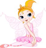 Cute fairy ballerina sitting Stock Photography