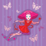Cute Fairy cartoon  Royalty Free Stock Images