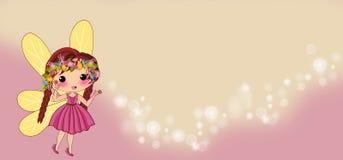 Cute fairy cartoon stock illustration