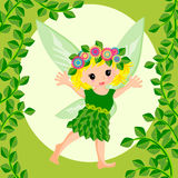 Cute fairy cartoon Royalty Free Stock Photo