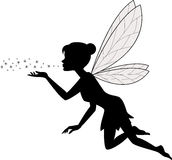 Cute fairy flying. Illustration of Cute fairy flying stock illustration