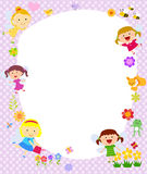 Cute fairy frame Stock Photography