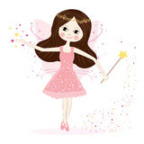 Cute fairy girl vector with stars background Stock Image