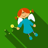 Cute fairy with magic wand Stock Photos